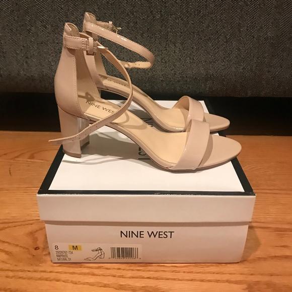Nine West Pruce Ankle Strap Block Heel